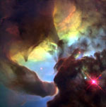 Lagoon Nebula - Credit: Hubble (NASA) and A. Caulet (ST-ECF, ESA)