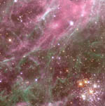 Hodge 301 starburst region in the Tarantula Nebula - Credit: Hubble Heritage Team (AURA/STScI/NASA)